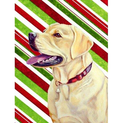 Schipperke Candy Cane Holiday Christmas 2-Sided Garden Flag