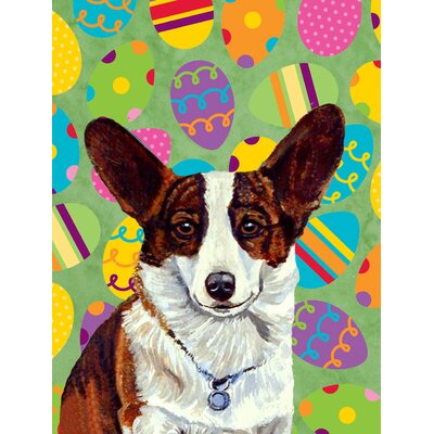 Corgi Easter Eggtravaganza House Vertical Flag