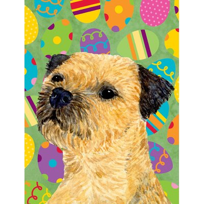 Border Terrier Easter Eggtravaganza House Vertical Flag