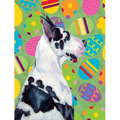 Great Dane Easter Eggtravaganza House Vertical Flag