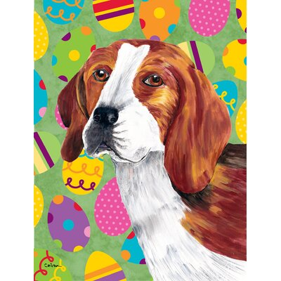 Beagle Easter Eggtravaganza House Vertical Flag