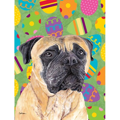 Mastiff Easter Eggtravaganza House Vertical Flag