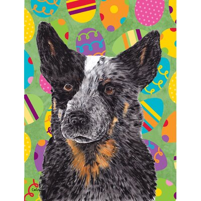 Australian Cattle Dog Easter Eggtravaganza House Vertical Flag