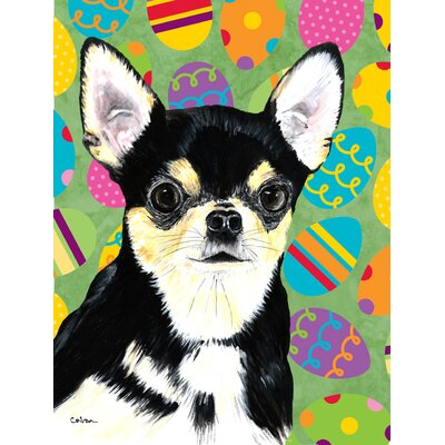 Chihuahua Easter Eggtravaganza House Vertical Flag
