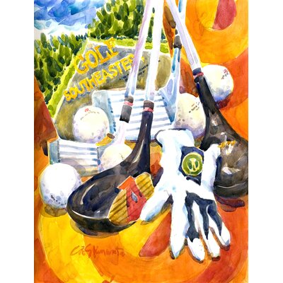 Southeastern Golf Clubs with Glove and Balls 2-Sided Garden Flag 6070GF