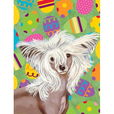 Chinese Crested Easter Eggtravaganza 2-Sided Garden Flag