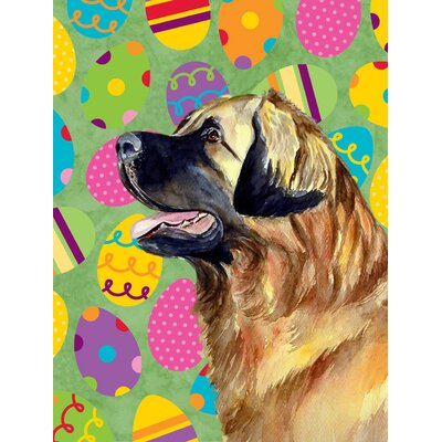 Leonberger Easter Eggtravaganza 2-Sided Garden Flag