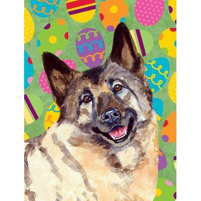 Norwegian Elkhound Easter Eggtravaganza 2-Sided Garden Flag