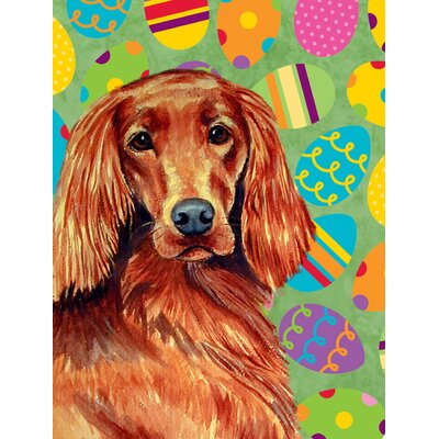 Irish Setter Easter Eggtravaganza 2-Sided Garden Flag
