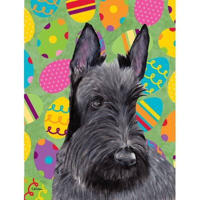 Scottish Terrier Easter Eggtravaganza 2-Sided Garden Flag