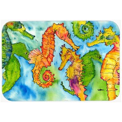 Seahorse Kitchen/Bath Mat Size: 20 H x 30 W x 0.25 D