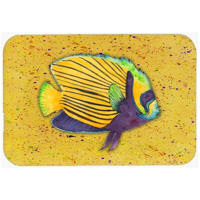 Tropical Fish on Kitchen/Bath Mat Size: 24 H x 36 W x 0.25 D, Color: Mustard