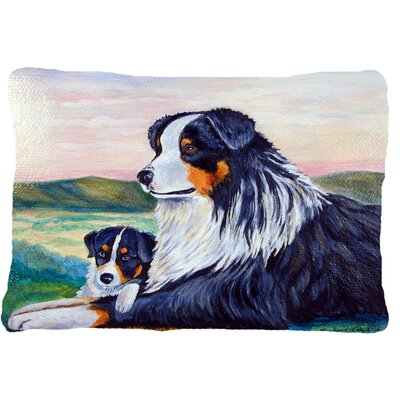 Australian Shepherd Graphic Print Indoor/Outdoor Throw Pillow