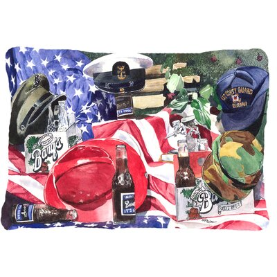 Barqs and Armed Forces Indoor/Outdoor Throw Pillow
