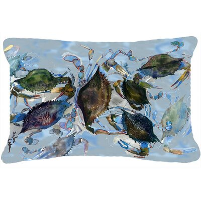 Crab Graphic Print Indoor/Outdoor Throw Pillow