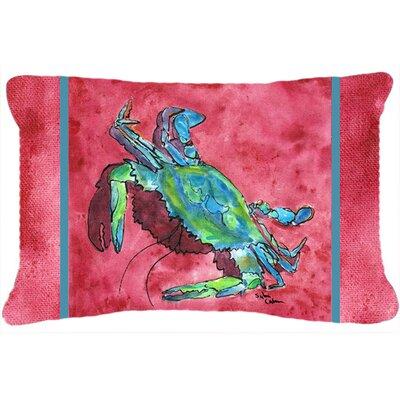 Crab Rectangular Pink Indoor/Outdoor Throw Pillow