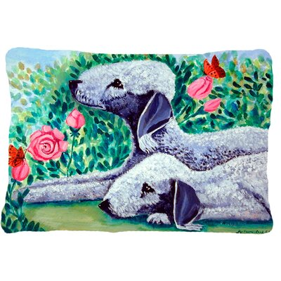 Bedlington Terrier Indoor/Outdoor Throw Pillow