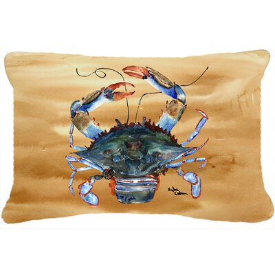 Burgett Crab Nautical Brown Indoor/Outdoor Throw Pillow