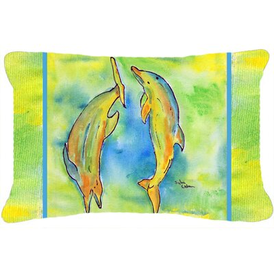Dolphin Rectangular Indoor/Outdoor Throw Pillow