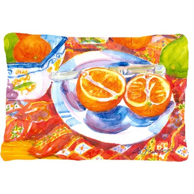 Florida Oranges Sliced for Breakfast Indoor/Outdoor Throw Pillow