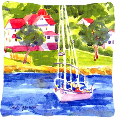 Sailboat on The Lake Indoor/Outdoor Throw Pillow