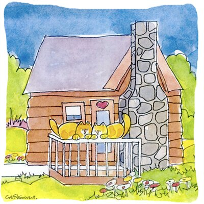 Cat Love at The Log Cabin Indoor/Outdoor Throw Pillow