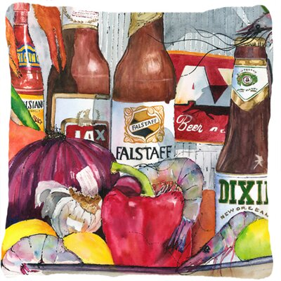 New Orleans Beers and Spices Indoor/Outdoor Throw Pillow