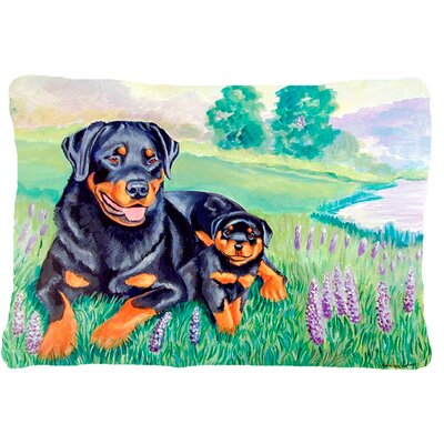 Rottweiler Graphic Print Indoor/Outdoor Throw Pillow