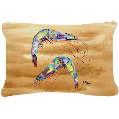 Shrimp Indoor/Outdoor Throw Pillow Color: Brown