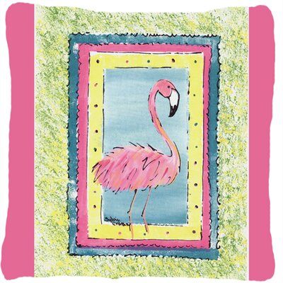 Flamingo Indoor/Outdoor Throw Pillow Color: Pink