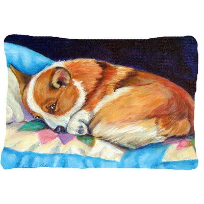 Corgi Indoor/Outdoor Lumbar Pillow