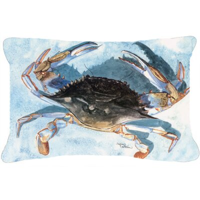 Burgett Crab Blue/Gray Indoor/Outdoor Throw Pillow