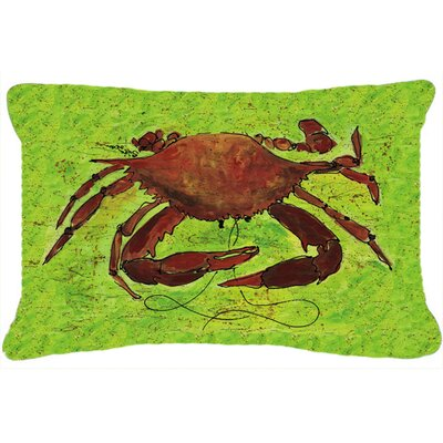 Crab Green/Brown Indoor/Outdoor Throw Pillow