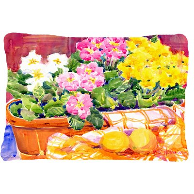 Primroses Indoor/Outdoor Throw Pillow