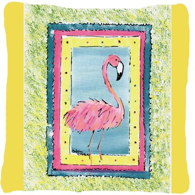 Flamingo Indoor/Outdoor Throw Pillow Color: Yellow