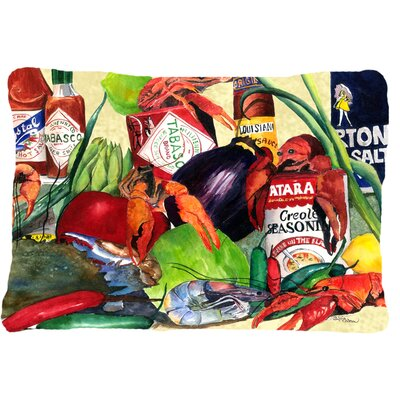 Spices and Crawfish Indoor/Outdoor Throw Pillow