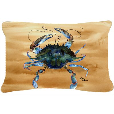 Burgett Crab Nautical Rectangular Indoor/Outdoor Throw Pillow