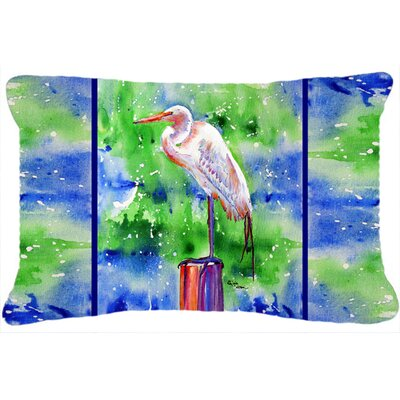Egret Rectangular Indoor/Outdoor Throw Pillow