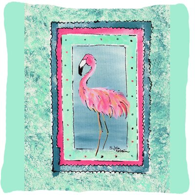 Flamingo Indoor/Outdoor Throw Pillow Color: Turquoise