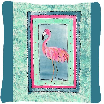 Flamingo Indoor/Outdoor Throw Pillow Color: Aqua