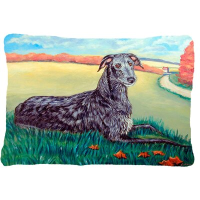Scottish Deerhound Rectangular Indoor/Outdoor Throw Pillow