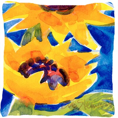 Landon Sunflowers Yellow/Blue Indoor/Outdoor Throw Pillow