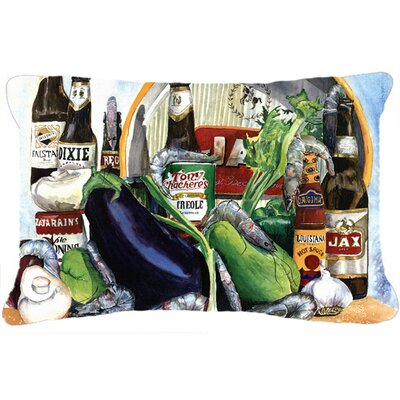 Eggplant and New Orleans Beers Indoor/Outdoor Throw Pillow