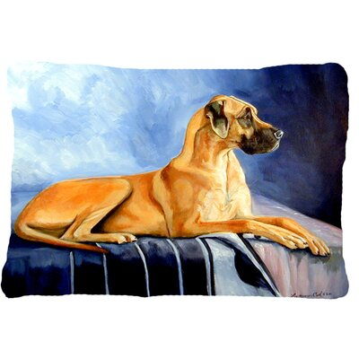 Natural Fawn Great Dane Indoor/Outdoor Throw Pillow