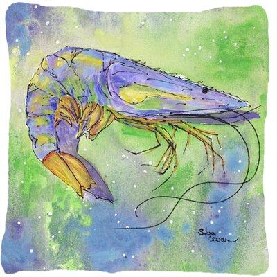 Shrimp Indoor/Outdoor Throw Pillow