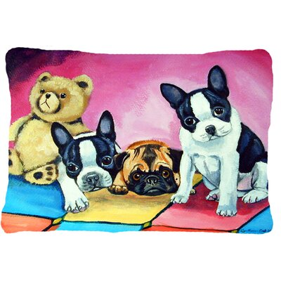 Multiple Breeds Indoor/Outdoor Throw Pillow