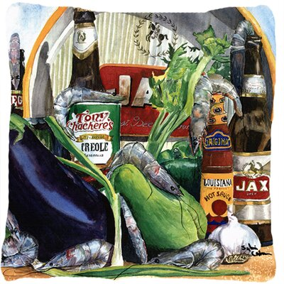 Donnellan Eggplant and New Orleans Beers Square Indoor/Outdoor Throw Pillow