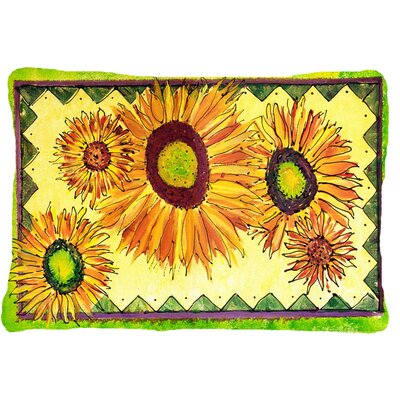 Landon Rectangular Sunflower Indoor/Outdoor Throw Pillow