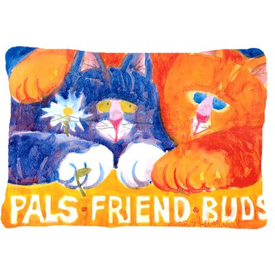 Cats Pals Friends Buds Indoor/Outdoor Throw Pillow