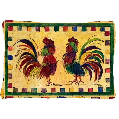 Rooster Rectangular Indoor/Outdoor Throw Pillow
